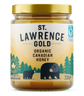 St Lawrence Gold Honey Organic Pure Canadian 330g