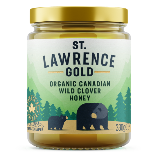 St Lawrence Gold Organic Wild Clover Honey 330g