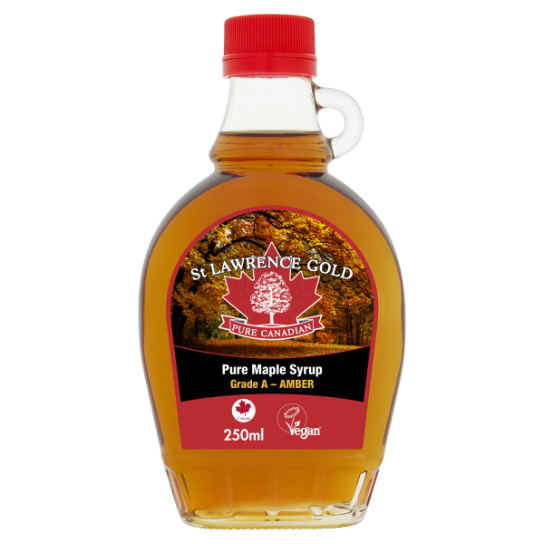 St Lawrence Gold Pure Maple Syrup Amber 250ml