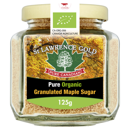 St Lawrence Gold Organic Maple Sugar 125g
