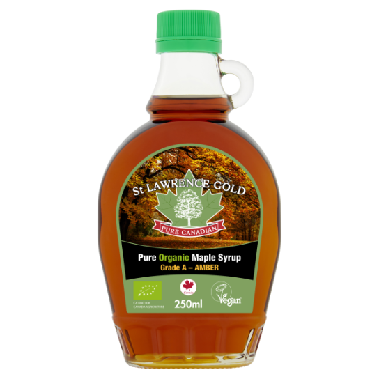 St Lawrence Gold Organic Pure Maple Syrup Amber 250ml