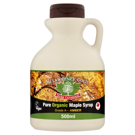 St Lawrence Gold Organic Pure Maple Syrup Amber 500ml